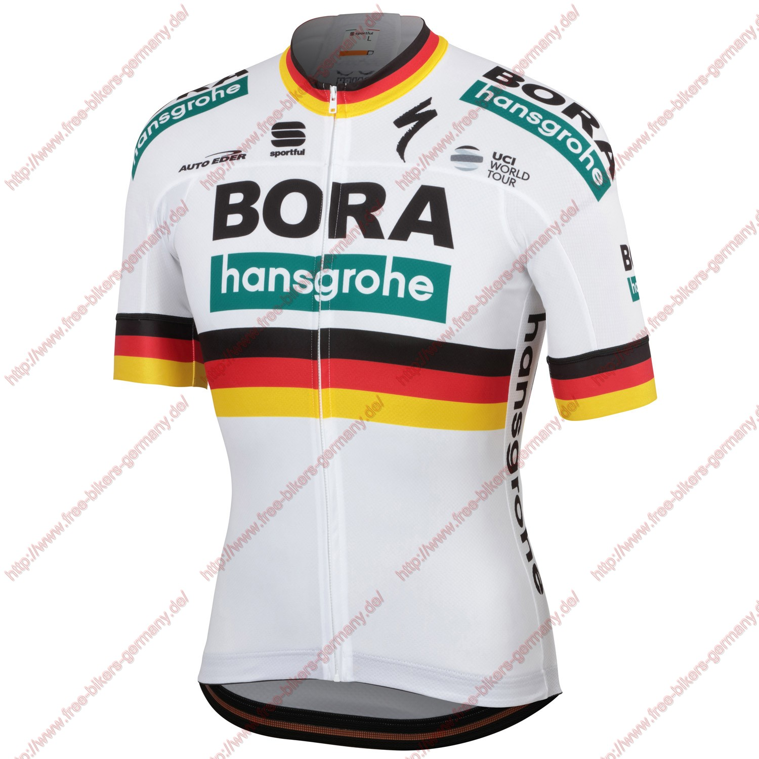 Profiteams Bora Hansgrohe 2019 German champion Trikot Kurzarm Outlet
