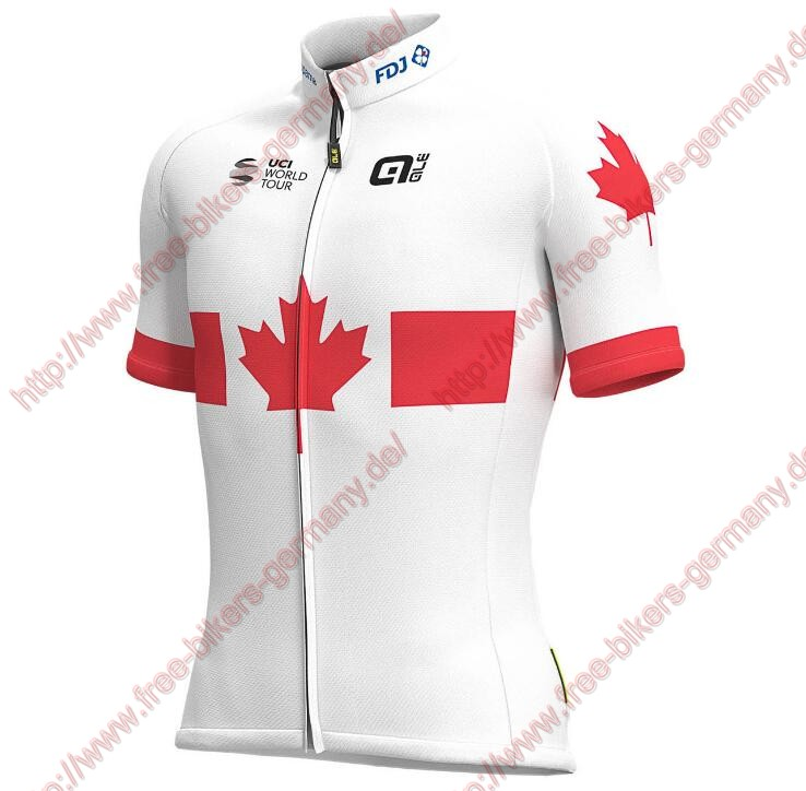 Profiteams 2019 Groupama FDJ Canadian Champion Trikot Kurzarm Outlet
