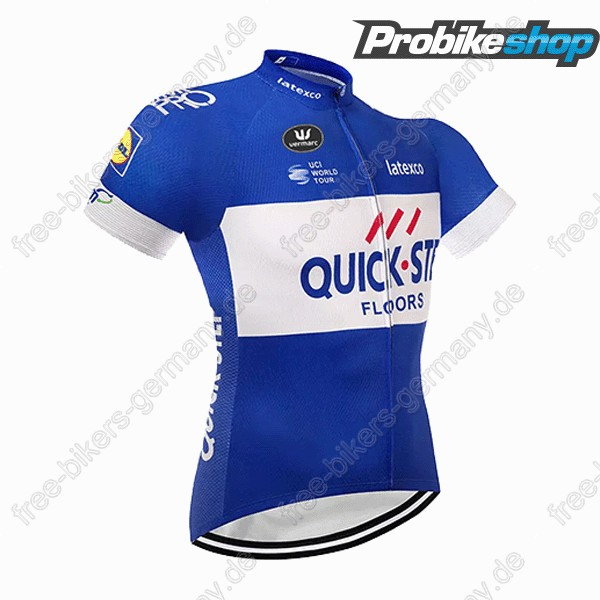 Quick Step Floors blau Trikot Kurzarm 2018