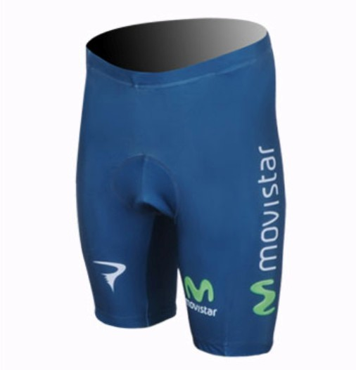 2013 Movistar Team Kurz Radhose Blau OMEE307