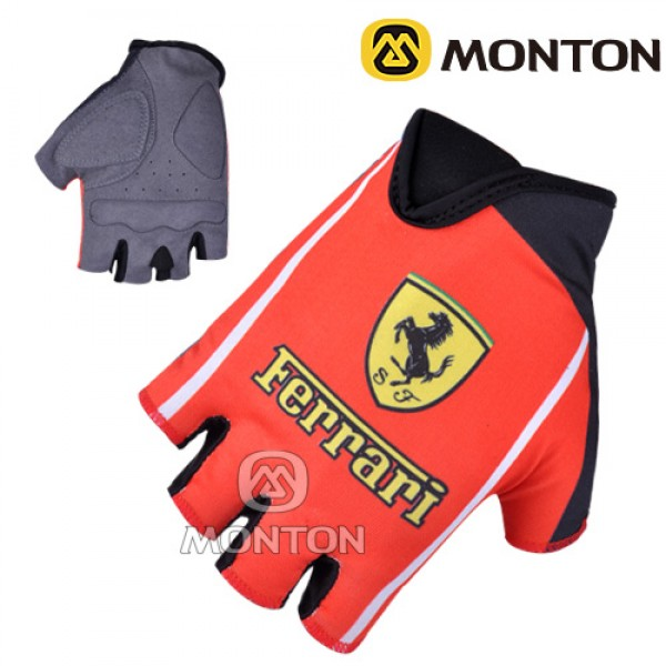 2011 Ferrari team half finger gloves AJOD941