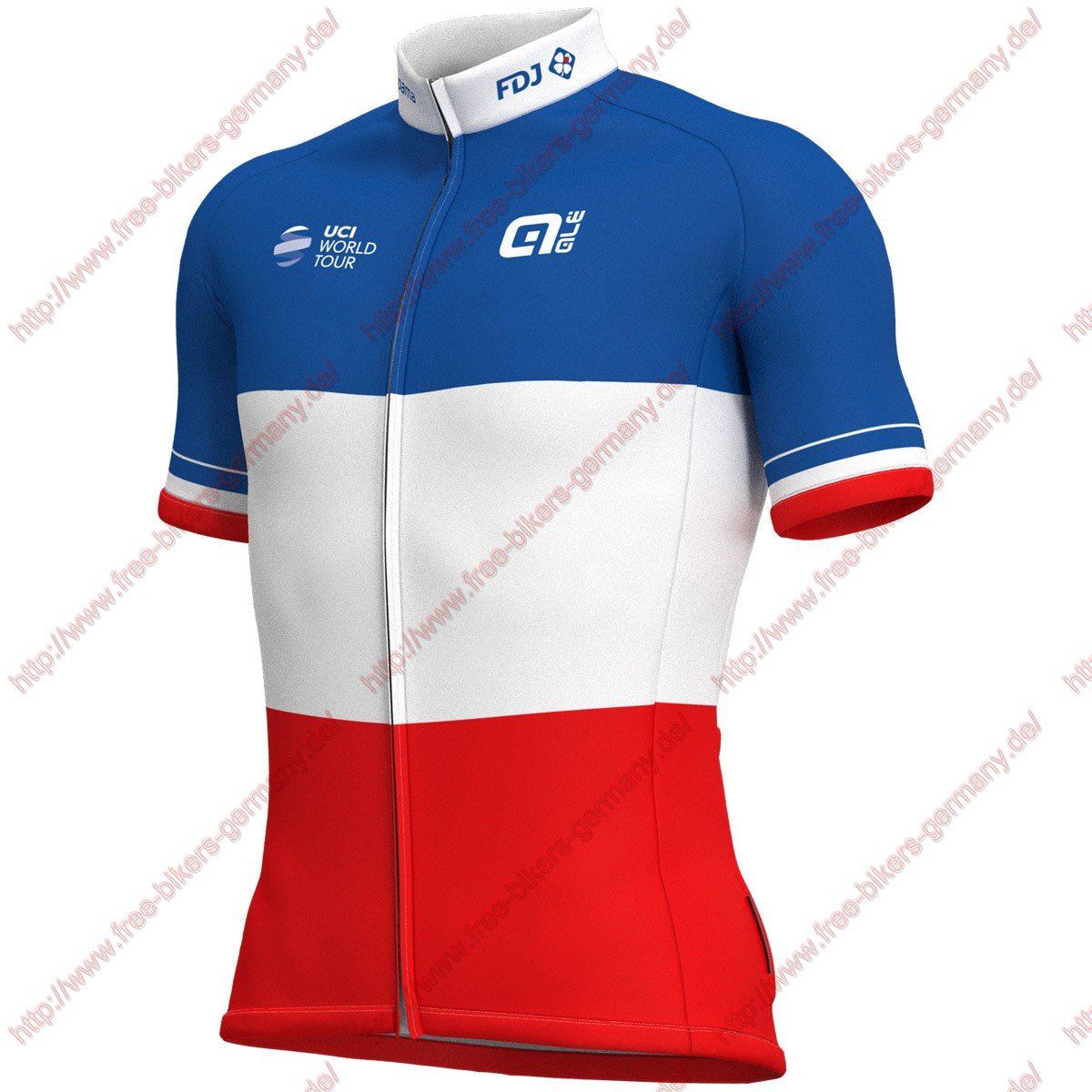 Radsport Groupama Fdj French Champion 2018 Trikot Kurzarm
