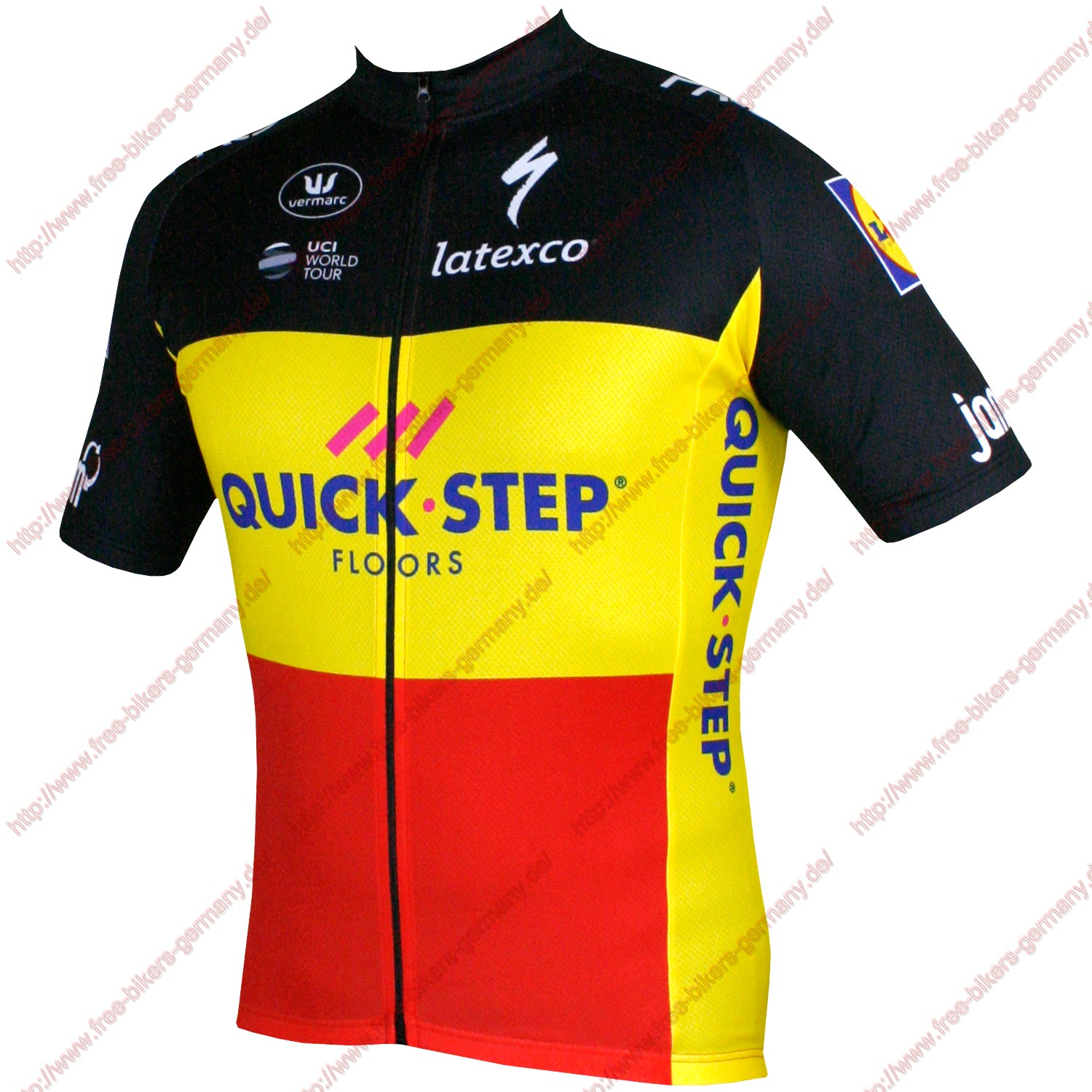 Radsport Quick Step Floors Belgium Champion 2018 Trikot Kurzarm