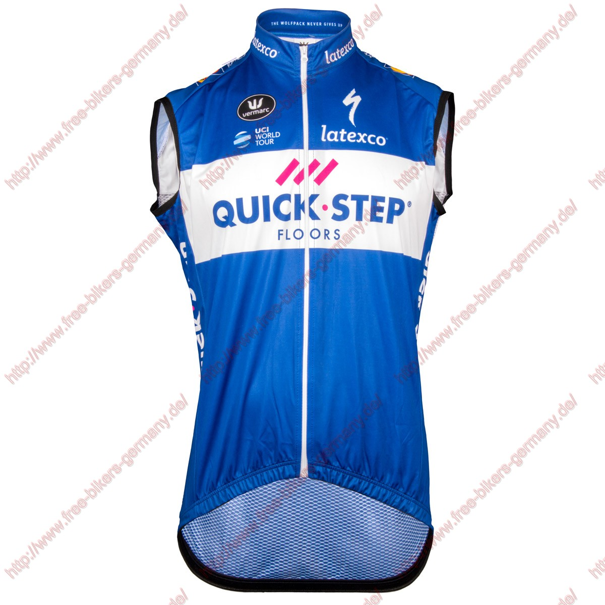 Radsport Quick Step Floors 2018 Windstopper Ärmelloses Trikot Kurz