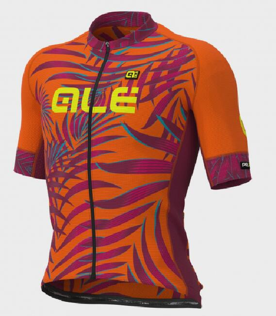 Fahrradbekleidung Radsport 2020 Ale Graphics Prr Sunset Trikot Kurzarm Outlet orange-fluo L11843219-02
