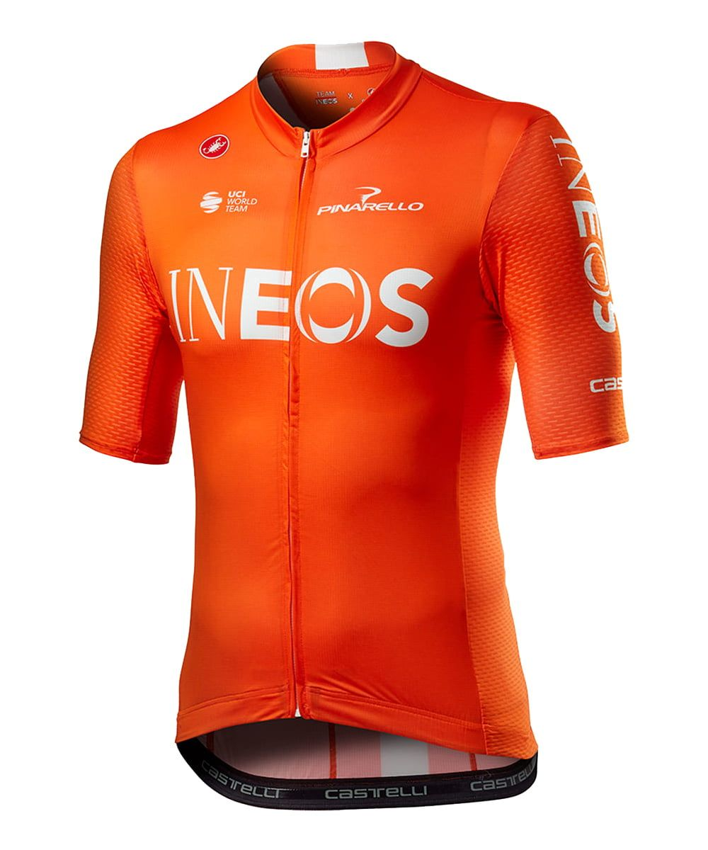 Fahrradbekleidung Radsport 2020 TEAM INEOS training edition Trikot Kurzarm Outlet (langer RV)