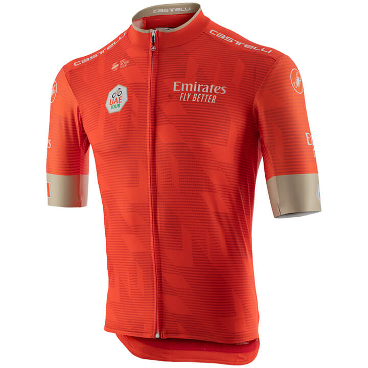 Fahrradbekleidung Radsport 2020 UAE Tour Trikot Kurzarm Outlet Orange
