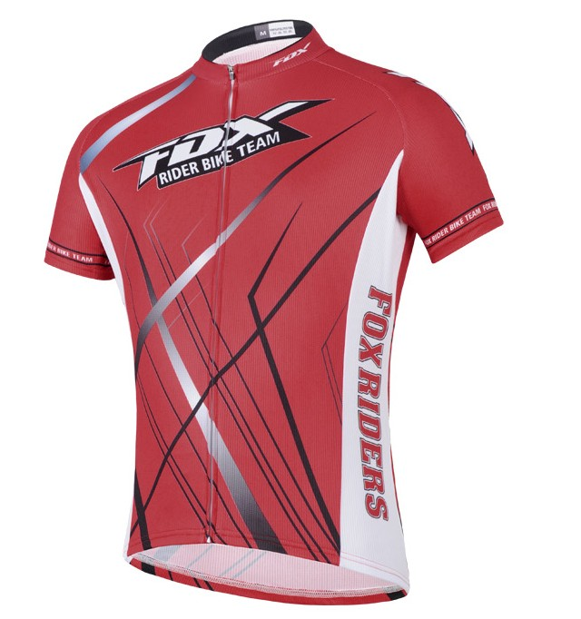 2014 Fox Bike Team Radtrikot Kurzarm Rot CFZZ204